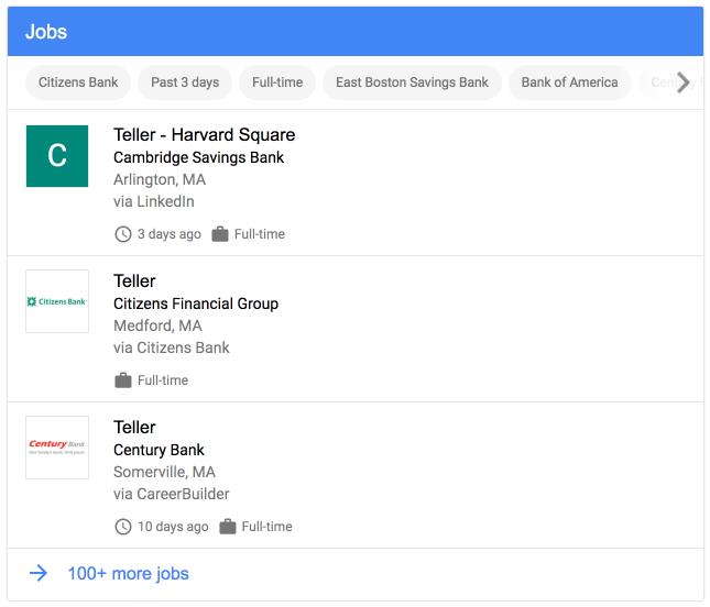 voorbeeld vacatures google for jobs